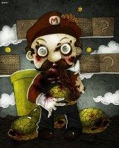 Zombie Mario by berkozturk
