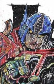 Zombie Optimus Prime by Plissken261