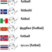 Futbol en diferentes idiomas XD