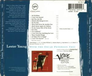 Lester Young with the Oscar Peterson Trio_back