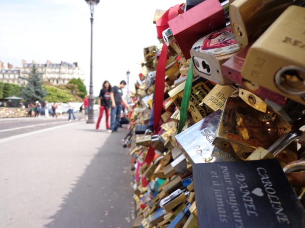 Pont de l'Archevêché in Paris. Where the lovers declare their love forever.