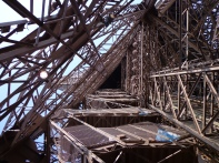 Eiffel Tower from the inside