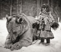 Bear-And-A-Child-In-Russia